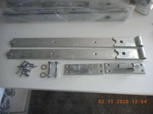 """Heavy Duty Hook and Band Field Gate Hinges Garden Shed Barn Door Galvanised 24/"""""""