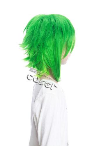 W-107 VOCALOID Megpoid Gumi COSPLAY Perücke WIG grün green 35cm hitzefest ANIME