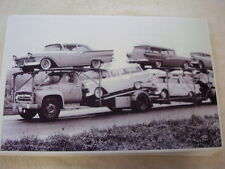 1957 FORD  NEW CARS ON CAR CARRIER  11 X 17  PHOTO  PICTURE