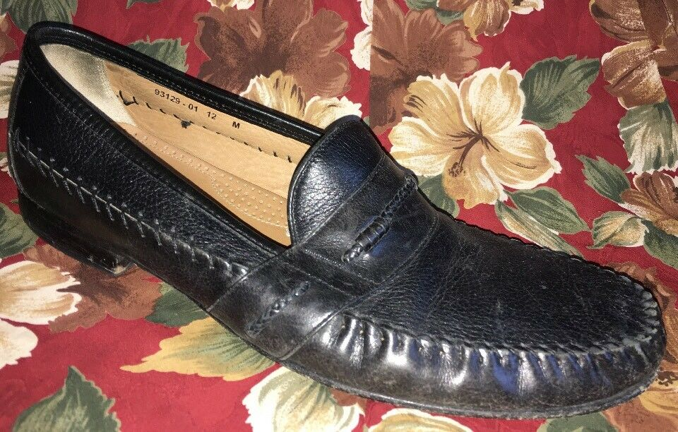 BRASS BOOT Men's 12M Handmade Loafer Stitched  Black Leather 93129-01 Stitched Loafer in India 4c00dc