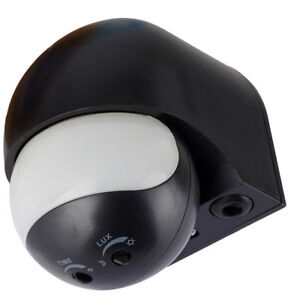 Image Is Loading 1 Motion Detector Black 180 Outdoor IR LED