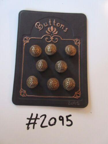 #2095 lotto di 8 Pulsanti Colore Bronzo