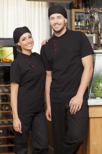Polo Maglia T Shirt Uomo Donna da Lavoro Cuoco Cucina Divisa ... 6f9c8c97195c
