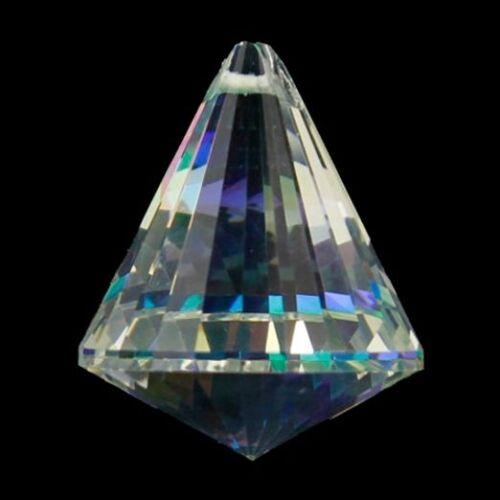 Feng Shui Kristall Regenbogen-Kristalle Kegel Perle 3 Stück 4,2 x 5,3  cm