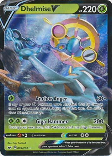 009//202 Ultra Rare Sword /& Shield Base Set Pokemon TCG 1 x NM Dhelmise V