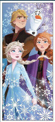 """Disney/'s FROZEN Anna Elsa Olaf Party wall or Door Banner 27/"""" x 60/"""" NEW FAST ship"""
