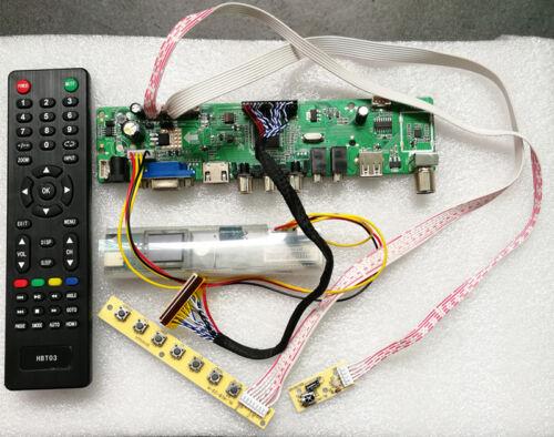 TV+HDMI+VGA+CVBS+USB T.VST56 LCD Controller Driver Board for LP171WP4 TL N2