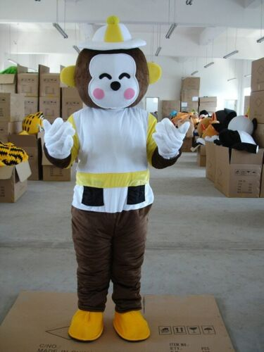 Details about  /Yellow Monkey Mascot Dress Outfit Halloween Adult Costume Cosplay Party Dress
