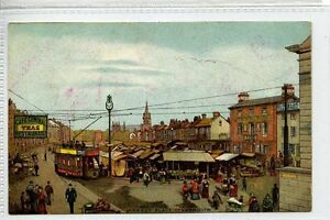 Gm222-176-Tram-at-The-Market-GREAT-YARMOUTH-c1910-Unused-VG