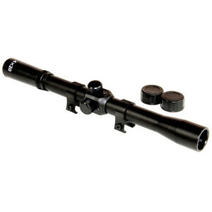 Sniper-Air-Rifle-Airgun-Gun-Scope-4x20-TELESCOPIC-SIGHT-Fitted-11mm-Mounts-Rings