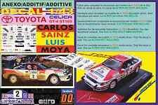 ANEXO DECAL 1/43 TOYOTA CELICA GT4 ST165 C.SAINZ RAC R. 1990 WINNER (01)