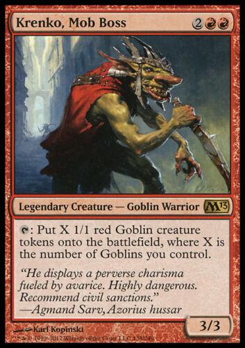 KRENKO MOB BOSS NM mtg M13 Red Goblin Warrior Rare