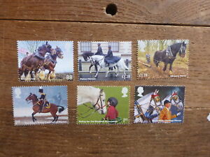 GREAT-BRITAIN-2014-WORKING-HORSES-SET-6-MINT-STAMPS
