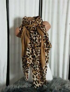 Details zu Blogger XXL Schal Tuch Viskose Mix animal Print Leo Leopard NEU Sommer 2020