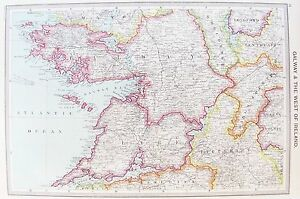 Galway On Map Of Ireland.Details About Old Antique Map Ireland West Coast Galway Limerick Aran C1906 By Philip