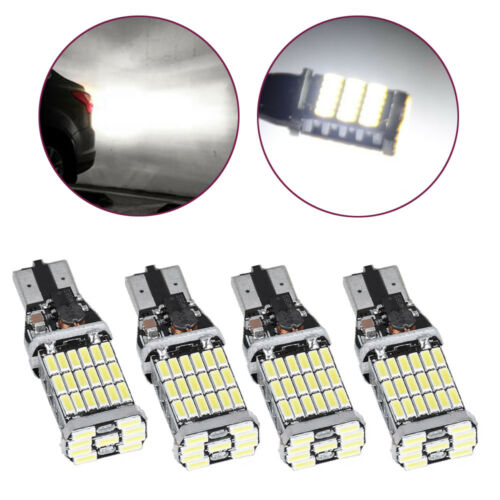4PCS T15 4014 T15 920 Error Free 45*LED Car Reverse Back Light Bulbs 6000K White