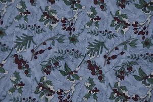Patchwork-tissu-coton-americain-DEBBIE-MUMM-45-cm-x-55-cm-Houx-fond-fond-bleu