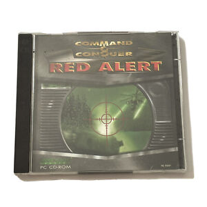 Command & Conquer Red Alert PC Computer Game Complete Windows Vintage 1996!