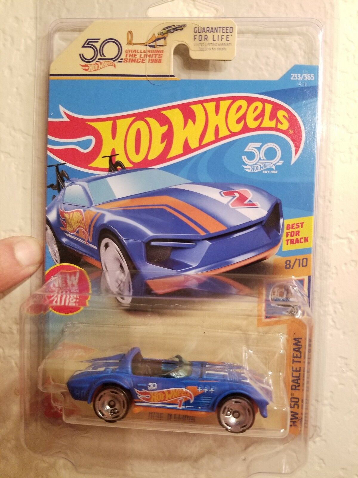 2018 Hot Wheels RARO ERROR 50th Corvette Grand Sport Roadster  Wow coleccionista difícil de encontrar