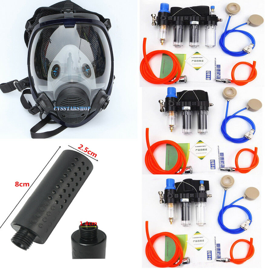2 In 1 Air Fed Respirator System For Painting Spraying Gas Mask Respirator