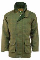 Mens Branded Dark Derby Tweed Shooting Jacket Coat Sizes: S - 2xl