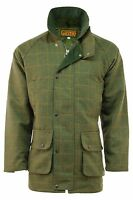 Mens Branded Dark Derby Tweed Shooting Jacket Coat Sizes: S - 2xl