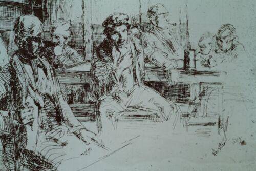 THAMES SET-LONGSHOREMAN  ETCHING 35MM ART SLIDE J M WHISTLER