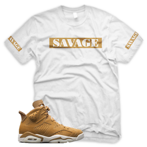8bb6fc538f7 White Wheat SAVAGE T Shirt for Jordan Golden Harvest 6 OG Wheat Gold ...