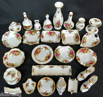 Royal Albert Old Country Roses Jarrones, Sweet Platos Y Adornos, hecho En Inglaterra