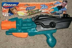 Banzai Aqua Tech Power Blaster Water Squirt Gun Pool Games