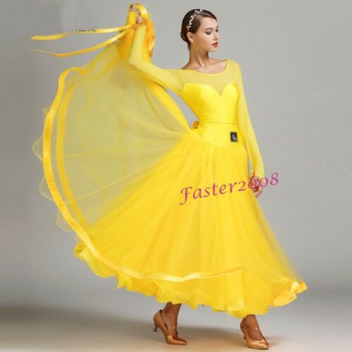 Adult Dancewear Standard Ballroom Waltz Tango Fox Trot Dance Performance Dress