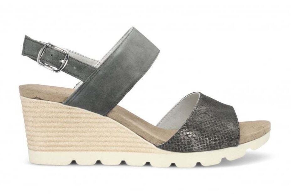 Caprice Damenschuhe Sandale grau Größe Keil 37 - 40,5 28701-20 Keil Größe Sandale Sommer 4c723b