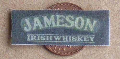 1:12 scale tumdee maison de poupées miniature Jameson Irish Whiskey Chiffon bar serviette