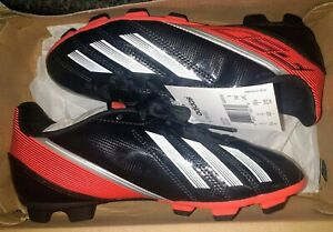 776d29f22 New Adidas F5 F-50 TRX FG Junior Soccer Shoes Cleats Black Red Size ...