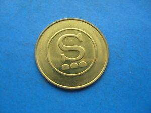 (34C) S. CAR WASH GOLD COLOURED TOKEN COIN 34C