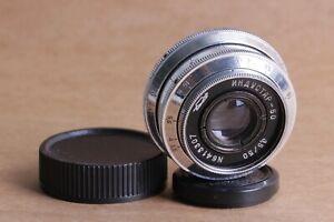 Industar-50-Objektiv-50mm-f-3-5-fuer-Fed-Leica-m39-KMZ-Silber