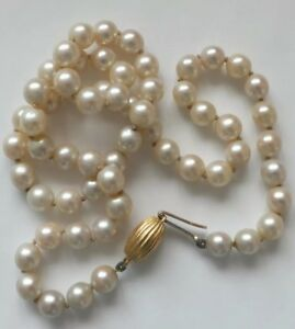 Antique-Pearl-Necklace-18ct-Gold-Clasp-Chain
