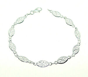 925-plata-esterlina-ley-Pulido-Pulsera-de-filigrana-ovalos-75-034