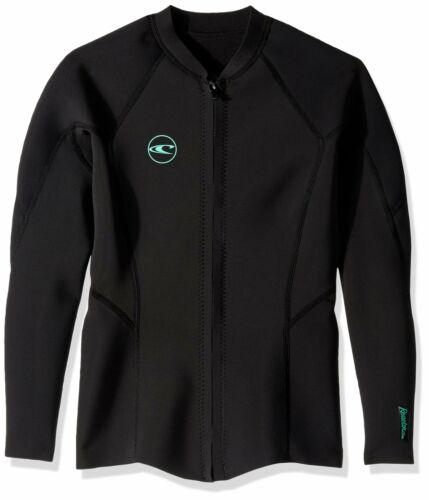 O/'Neill Women/'s Reactor-2 1.5mm Full Zip Jacket Black//Black Size 10