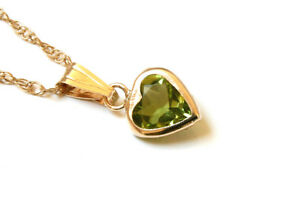 9ct Gold Peridot Celtic Pendant Necklace and Chain Gift Boxed Made in UK