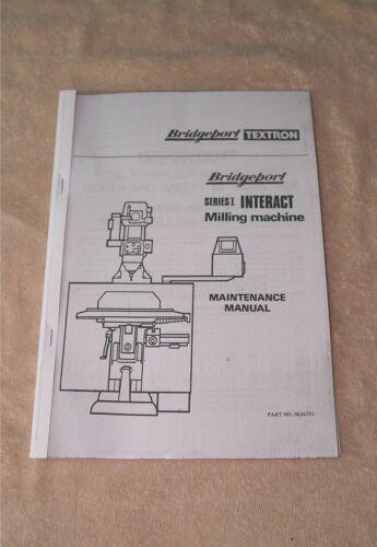 Bridgeport Series 1 Interact CNC Operating /& Programming Manual