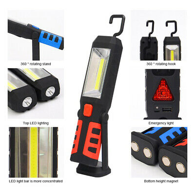 Hand Torch LED Work COB Light Rechargeable Magnetic Inspection Lamp Outdoor Home
