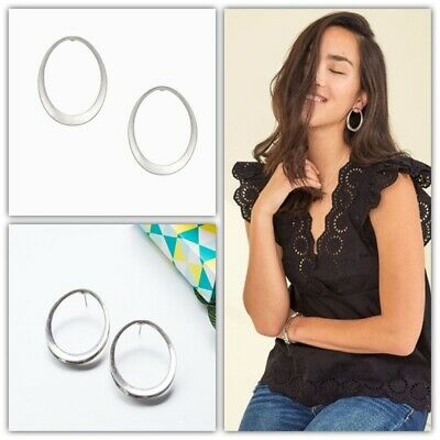 Stella /& Dot Essential Hammered Hoops Gold//Silver Brand New In Original Box