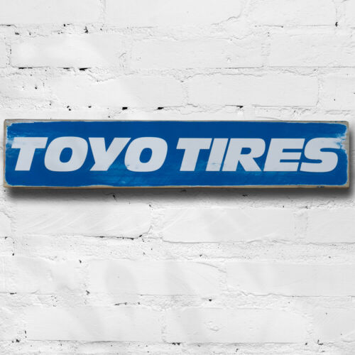 Toyo Tires Wooden Sign 50cm Garage Man Cave Motor Sport Advertising Tyres