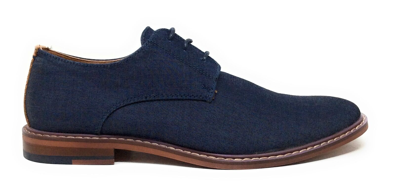 Jump J75 Mens Primo Oxford Casual Shoes Round Toe Medium Blue Size 11 M