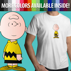 Charlie-Brown-Peanuts-Snoopy-Comics-Classic-Cartoon-Unisex-Mens-Tee-Crew-T-Shirt