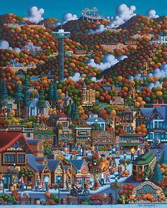 DOWDLE FOLK ART COLLECTORS JIGSAW PUZZLE ACADIA NATIONAL PARK 500 PCS #00355