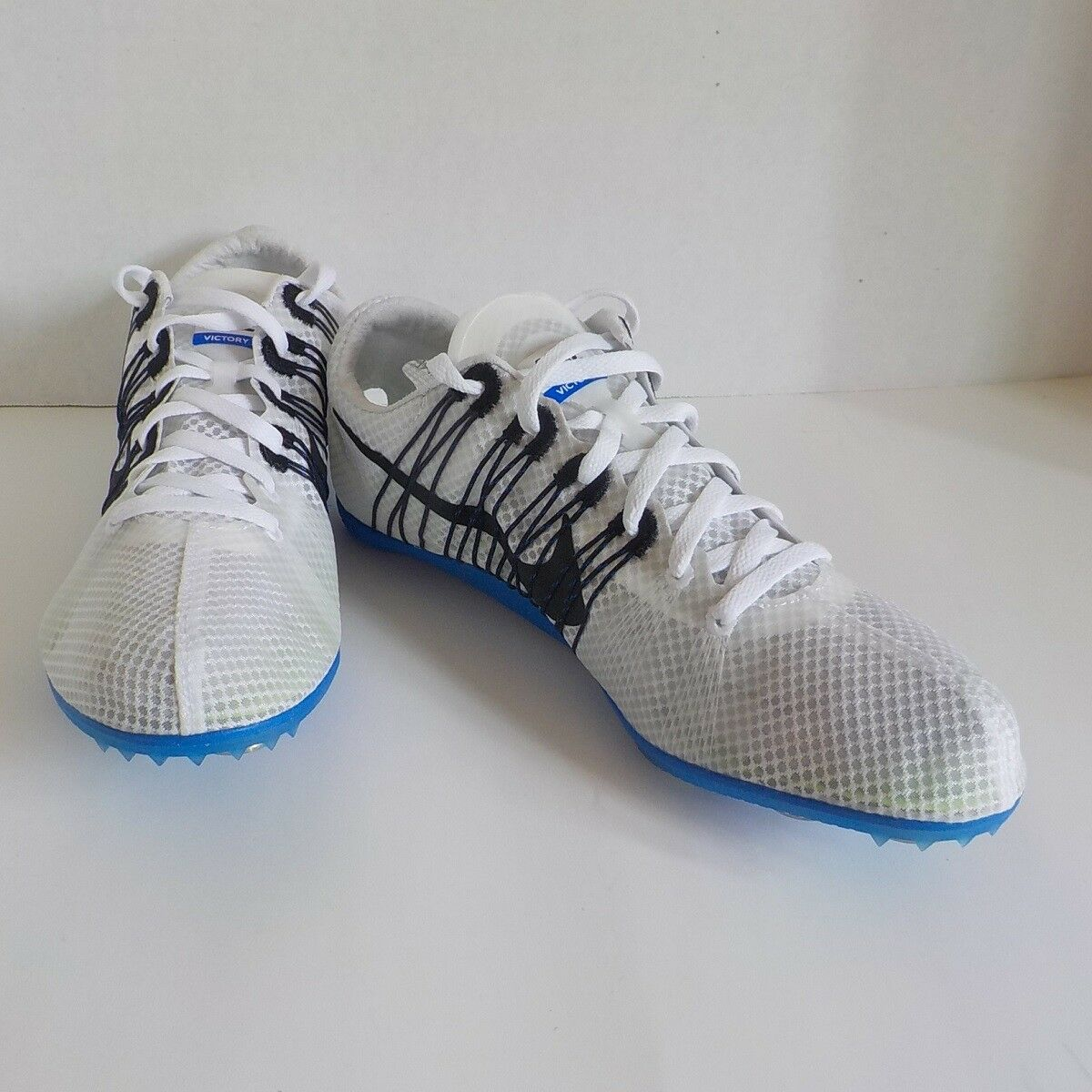 new style 4dae2 ddd31 ... Nike Zoom VICTORY VICTORY VICTORY 2 Distance Shoes WHITE BLUE 555365  100 MEN SIZE 7 ...