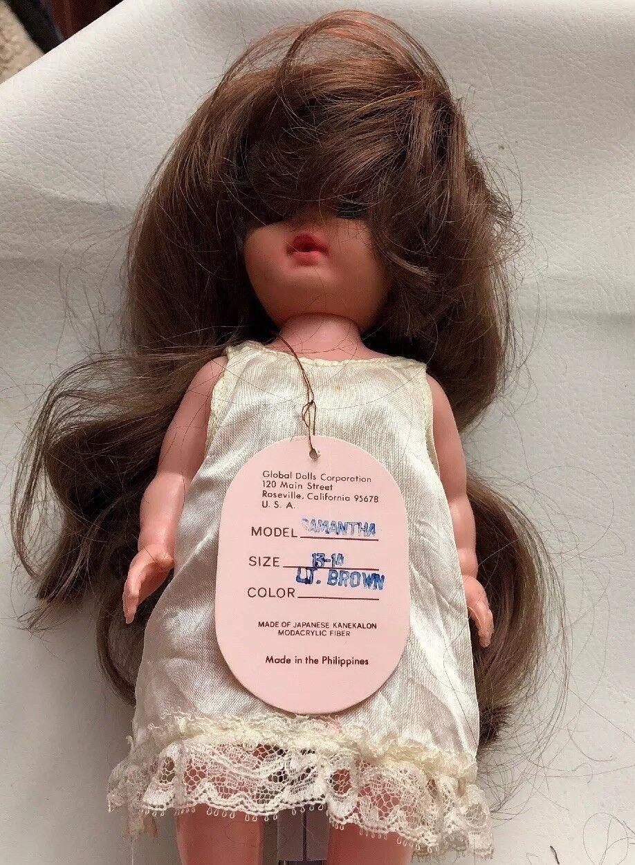 Lot Of 7 DOLL WIGS Style SAMANTHA Größe 13-14 Lt Braun Modacrylic by Global Dolls
