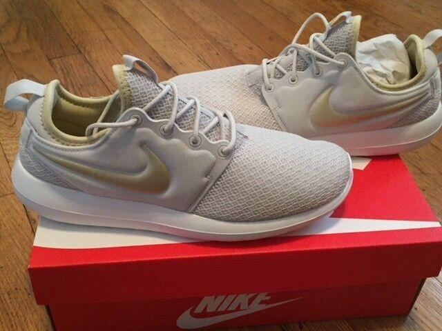 Nike da donna roshe due scarpe casual luce ossa / stella d'oro metallico trentanove nuove